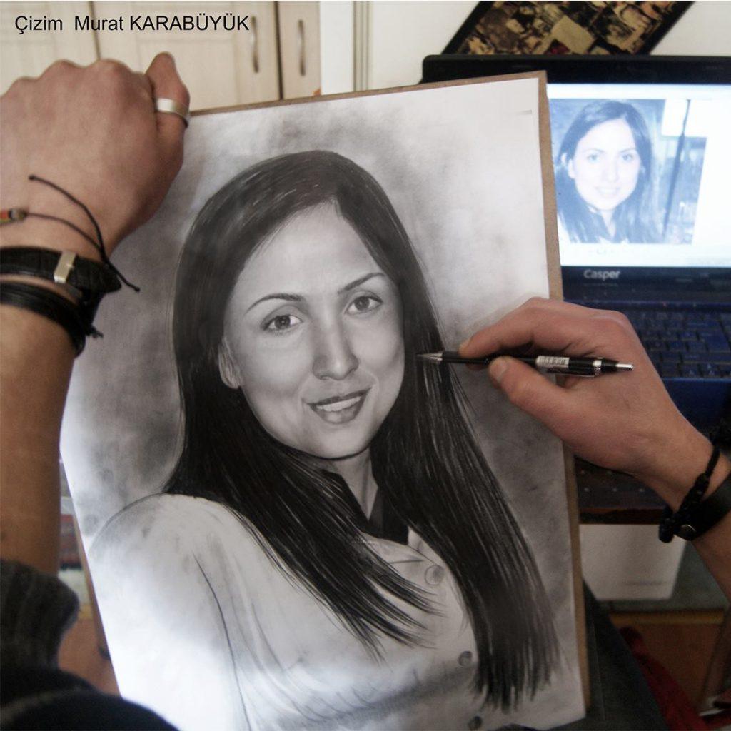 Karakalem Portre Çizimleri - Sanatsal Hediyeler İstanbul kadıköy bağdat caddesi ümraniye 8