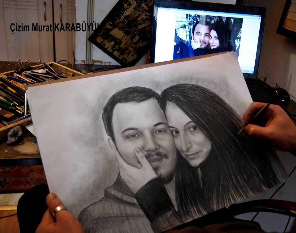 Karakalem Portre Çizimleri - Sanatsal Hediyeler İstanbul kadıköy bağdat caddesi ümraniye 69