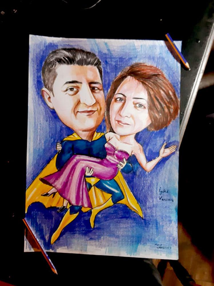 Karikatür Portre Çalışmaları - Sanatsal Hediyeler İstanbul