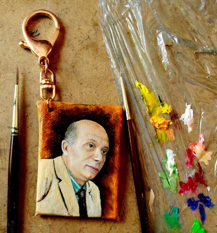 Yağlıboya portre hediye anahtarlık - Sanatsal Hediyeler